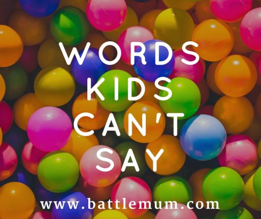 words kids cant say