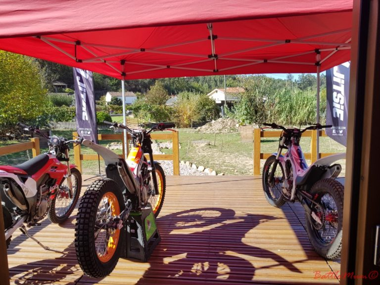 Some of the bikes available at Trialmotor for lessons