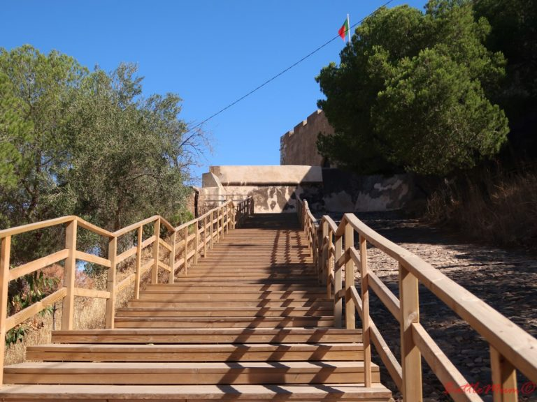 dragon hunting adventure at castro marim - the walkway up to the castle