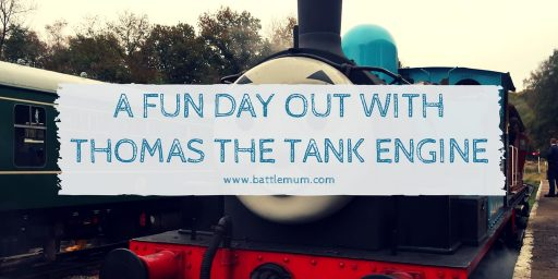 a fun day out with Thomas the tank engine - twitter graphic