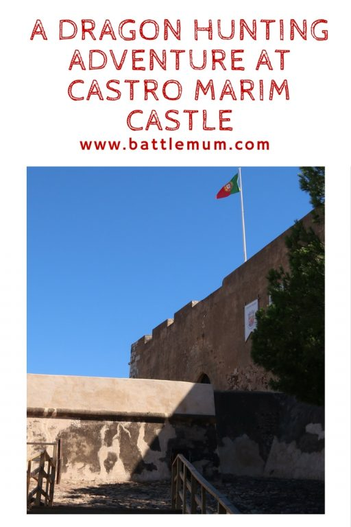 dragon hunting adventure at castro marim - pinterest graphic