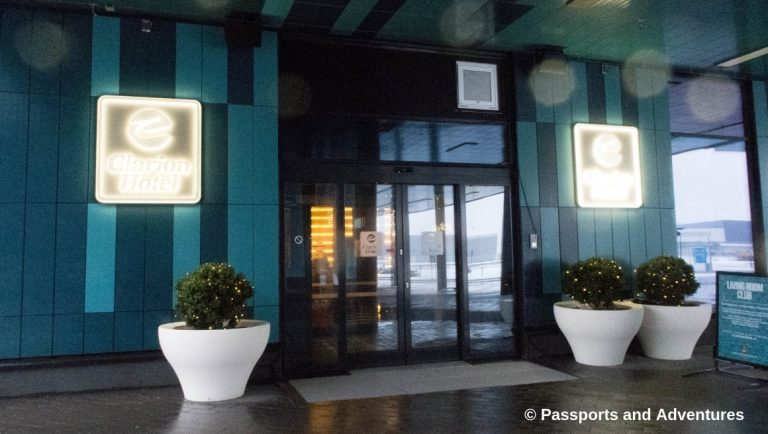 Clarion Hotel Helsinki Airport - A picture of the front entrance of the hotel.