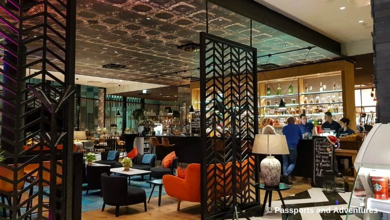 Clarion Hotel Helsinki Airport - View of the hotel bar and restaurant from the lobby.