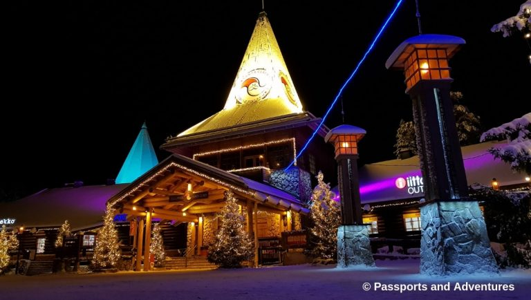 Awesome Things To Do In Rovaniemi With Kids - Santa Calus' Main Office and the Arctic Circle Line at Santa Claus Village