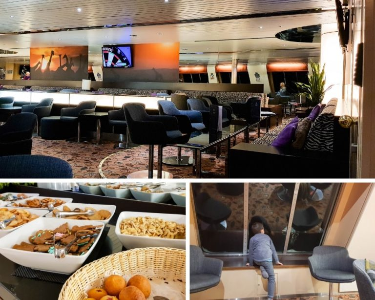 Tallink Silja Ferry Comfort Class Review - Collage of pictures from the comfort class lounge on board the Star ship.