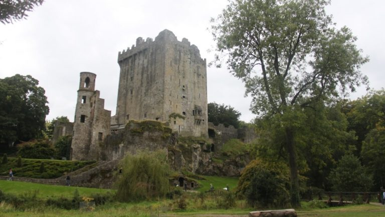 Blarney Castle, Cork is one of the top things to do in Ireland. Seen here from the lower gardens.