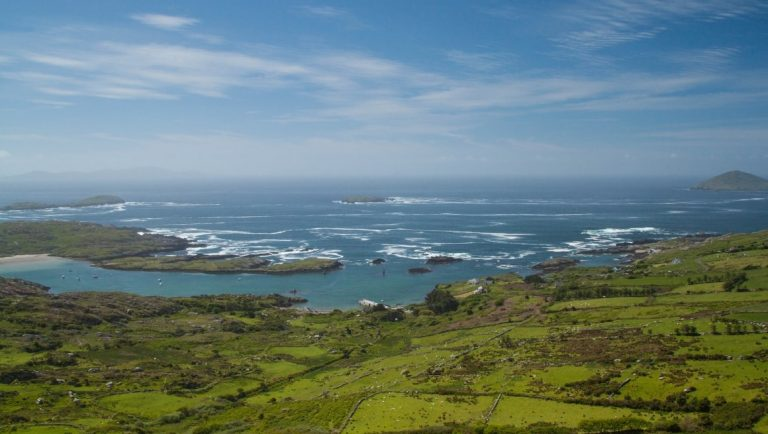 A view of the Atlantic Coast of Ireland from the Ring of Kerry, one of the best places to visit in Ireland.