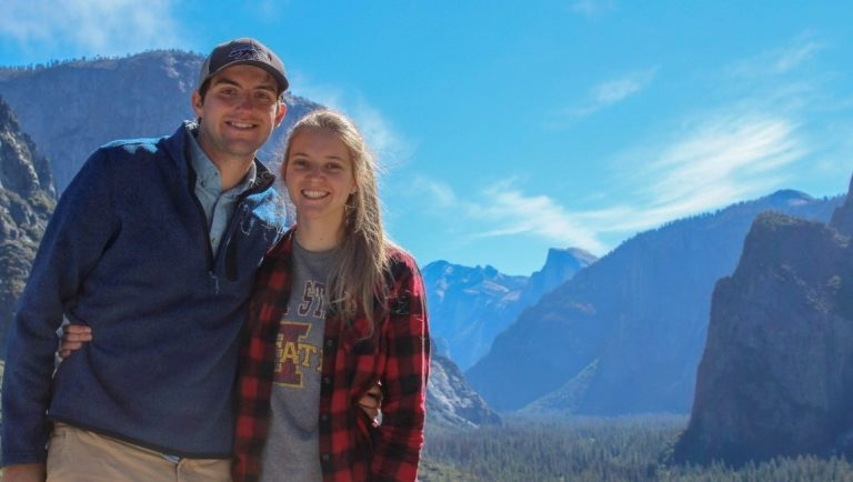 The Agape Co couple in Yosemite National Park