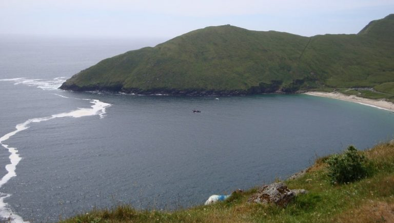 A view of Keem Bay on Achill Island in Mayo.