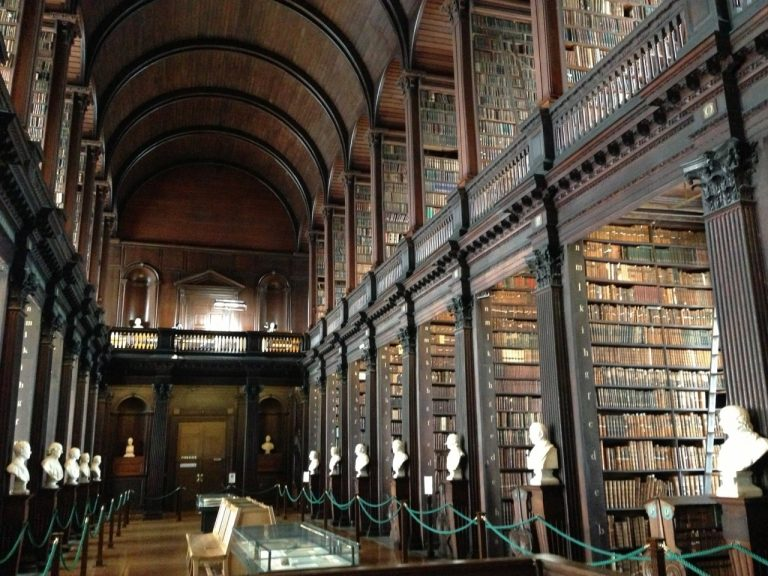 Interior of Trinity College Library in Dublin