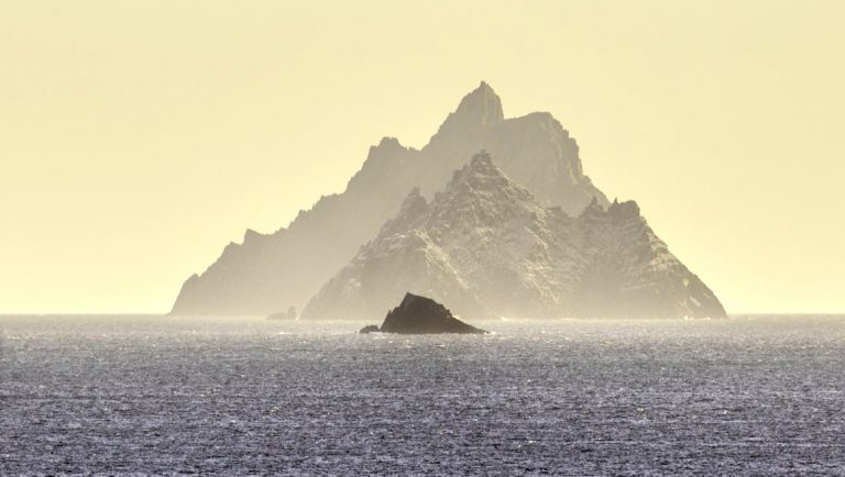 A view of the Skellig Islands off the coast of Kerry in Ireland.