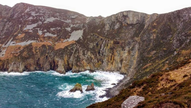 A view of the cliffs of Slieve League in Donegal, a lesser known tourist spot in Ireland.