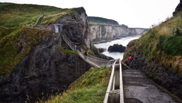 Carrick-a-Rede rope bridge in Northern Ireland is a unique place to visit in Ireland.