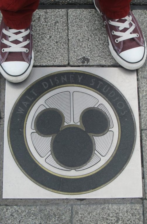 One of the Hidden Mickeys in Walt Disney Studios in Disneyland Paris