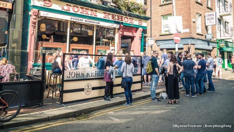 Enjoy some pub culture in Temple Bar, Dublin during a trip to Ireland.