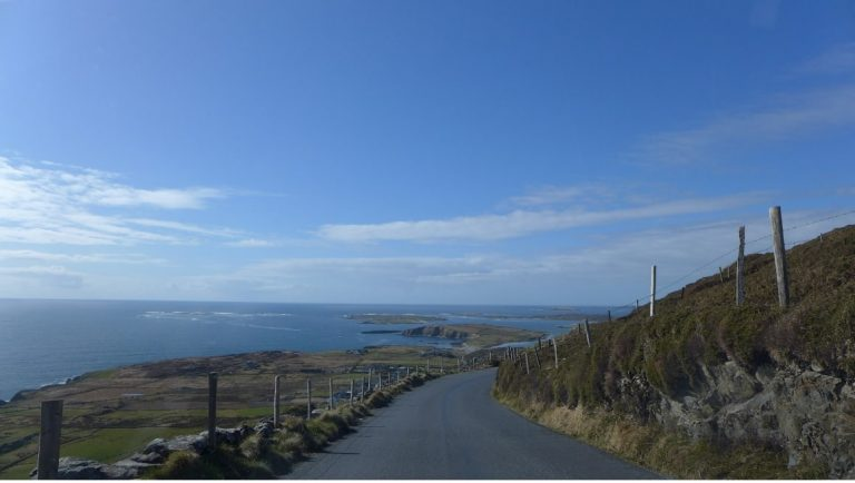 A beautiful road along the Atlantic Coast in Connemara, Ireland.