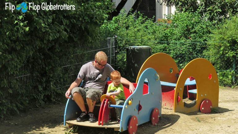 Picture of Flip Flop Glboetrotters son in a playground in Vienna