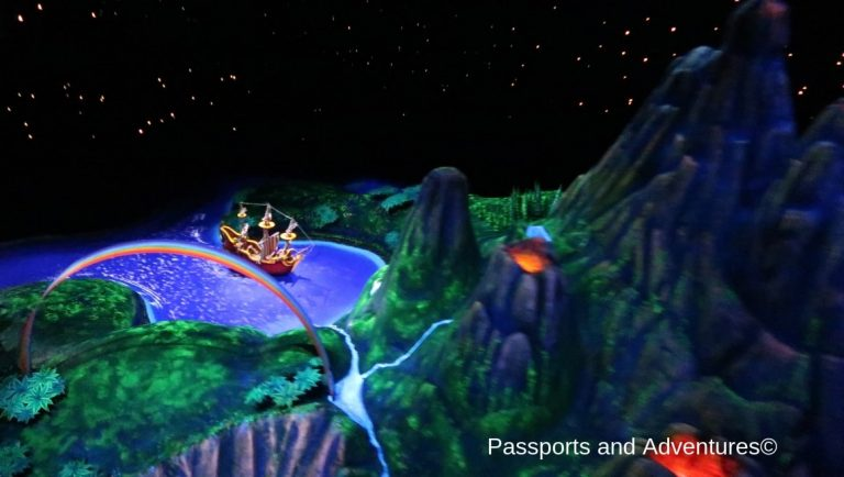 The Peter Pan's Flgiht ride at Disneyland Paris - One of the most popular attractions at Disney Paris