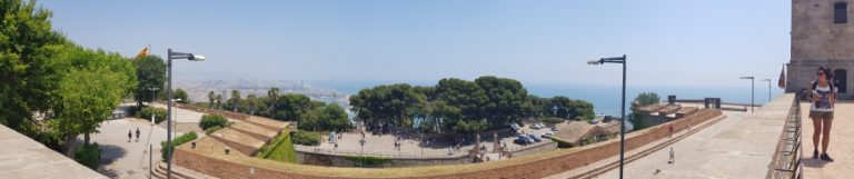 A panorama view of Barcelona from Montjuic Castle
