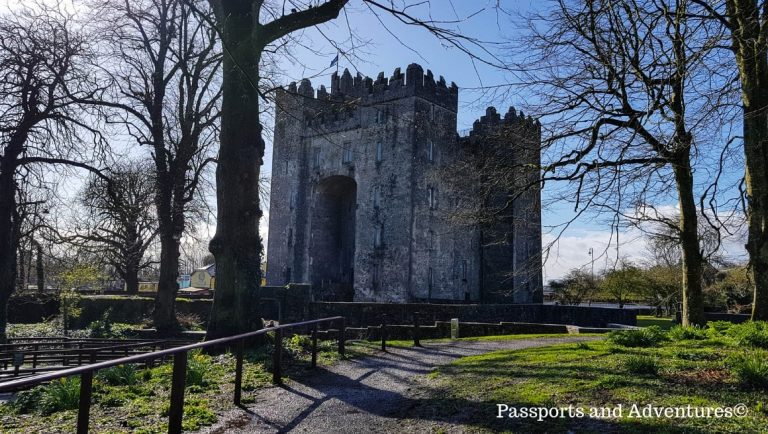 The magestic Bunratty Castle bathed in sunlight