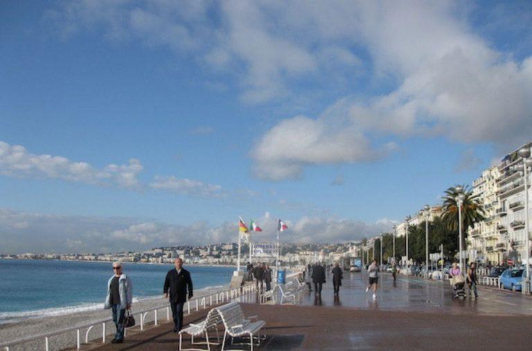 The promenade in Nice, France