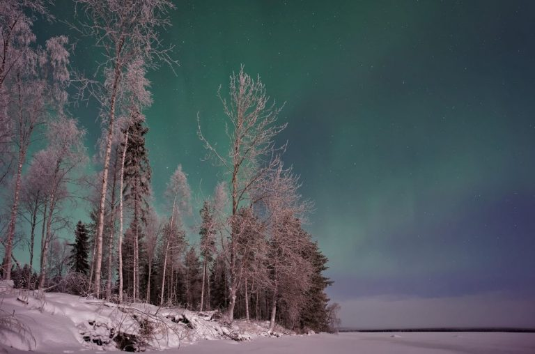 The Northern Lights over Finnish Lapland