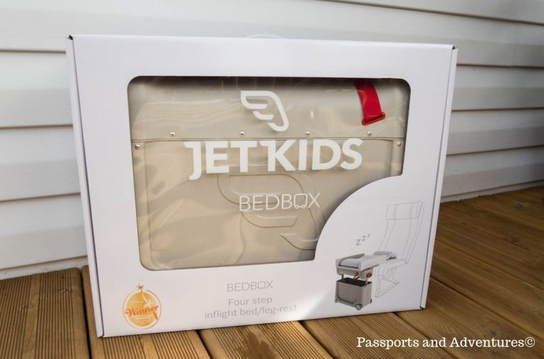 A boxed JetKids BedBox product