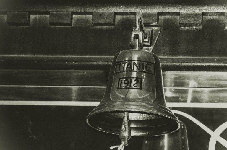 A bell at the Titanic Museum in Belfast