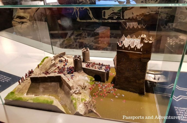 Part of a model display of King Johns Castle, Limerick