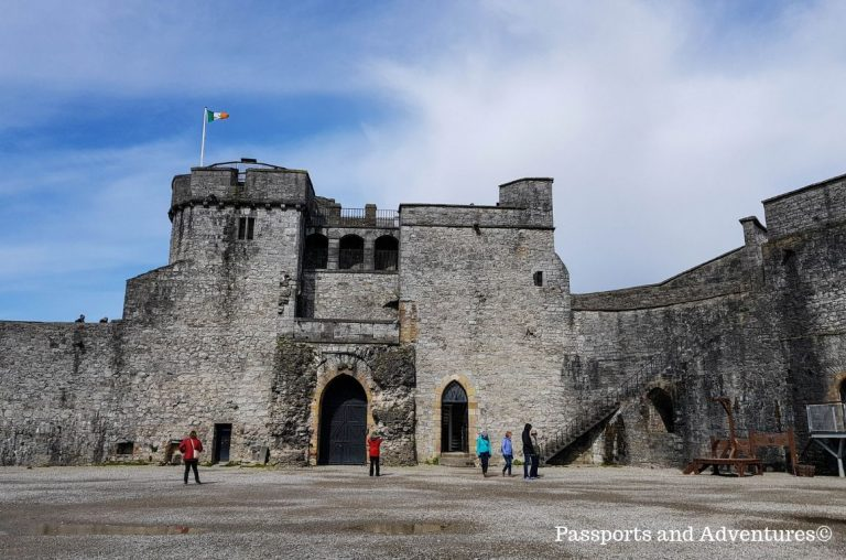 A picture inside the main keep of King John's Castle in Limerick, Ireland