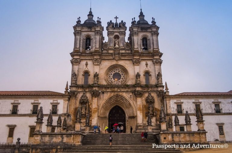 The facade of the Monastery of Alcobaca in Central Portugal