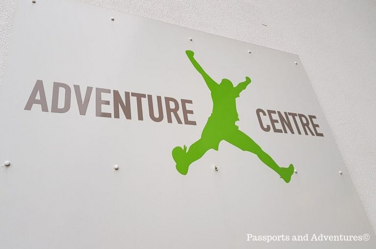 The sign for the Bluestone Adventure Centre building
