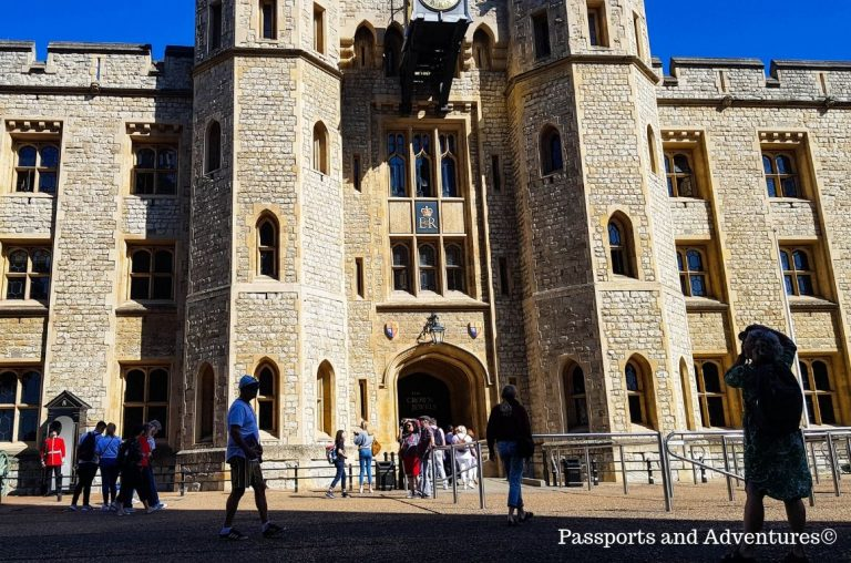 The Waterloo Block building which houses the Crown Jewels at the Tower of London