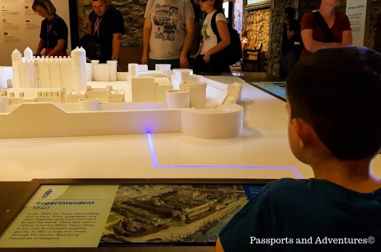 An interactive model of the Tower of London found on the top floor of the White Tower
