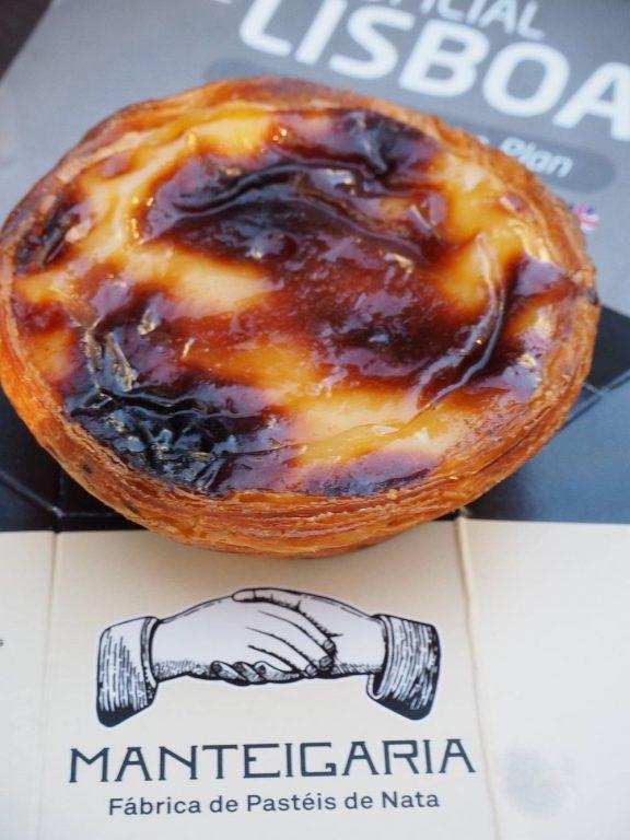 The famous Portuguese pastel de nata custard tart