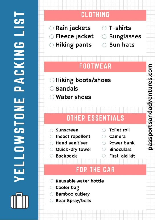 A Complete Yellowstone Packing List For Summer