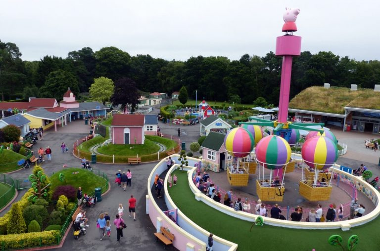 A view of Peppa Pig World from up high