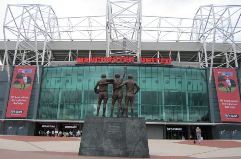 An exterior picture of Old Trafford football ground in Manchester