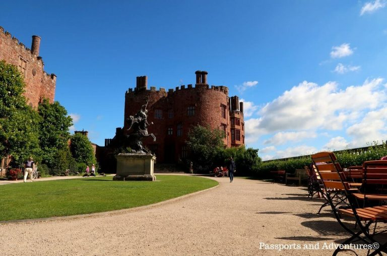 A picture of the stately home/castle from the inner courtyard of Powis Castle