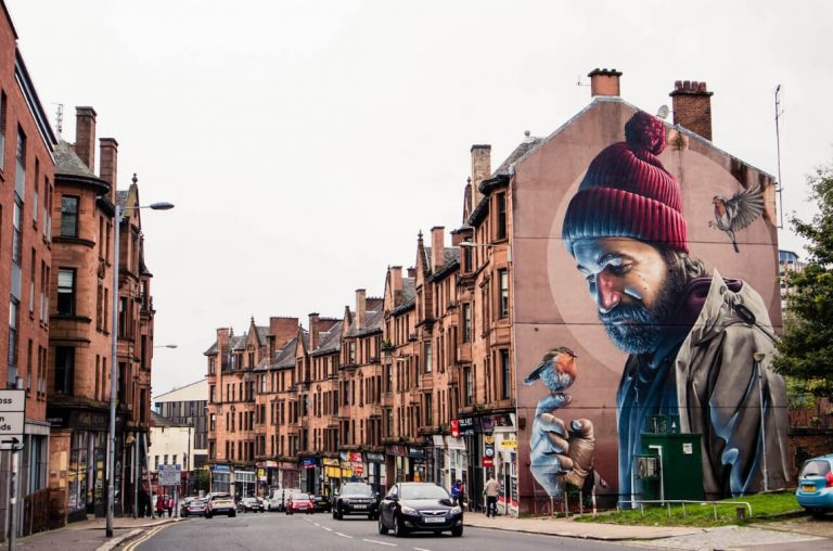 A picture of street art in Glasgow