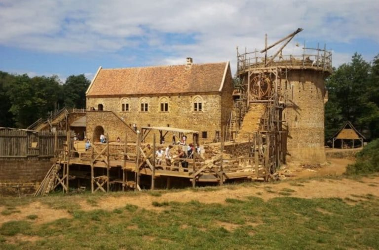 A picture of Guedelon Castle in France