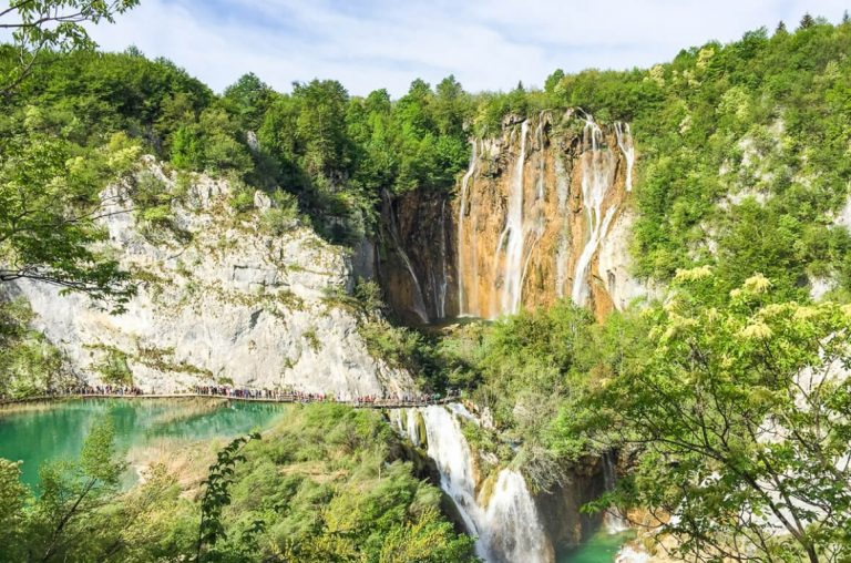 A picture of a waterfall in Plitvice Lakes National Park
