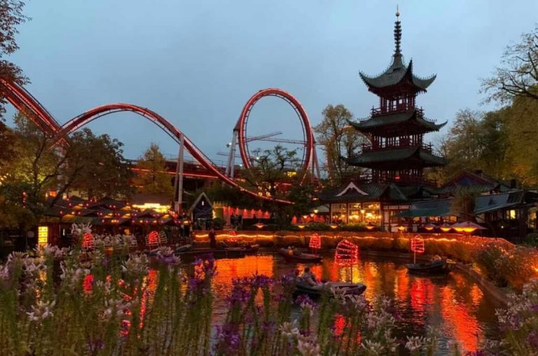A picture of Tivoli Gardens in autumn
