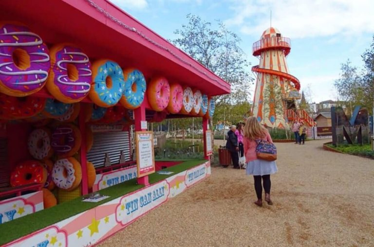A picture of some of the amusements at Dreamland, Margate, UK