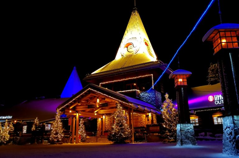 A picture of Santa Claus Village in Finnish Lapland