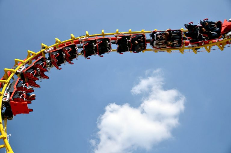 A picture of one of the roller-coasters at Prater, Austria