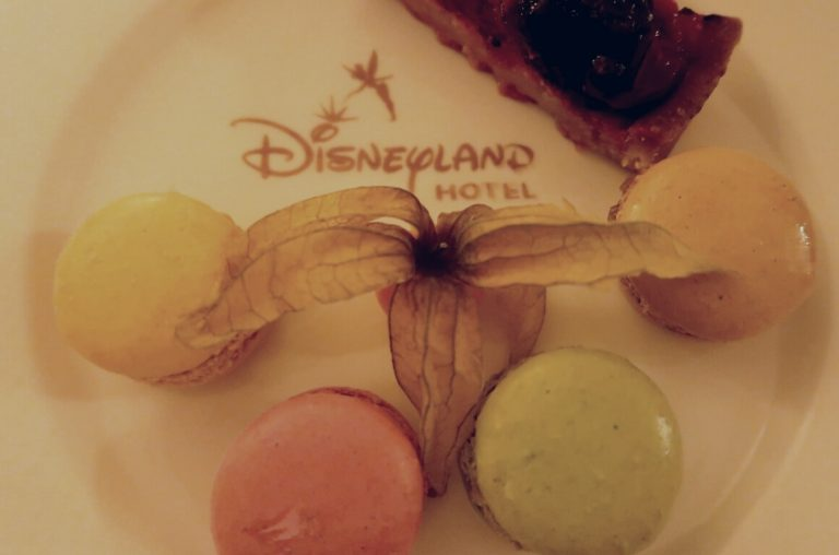 French macarons on a Disneyland Paris Hotel plate