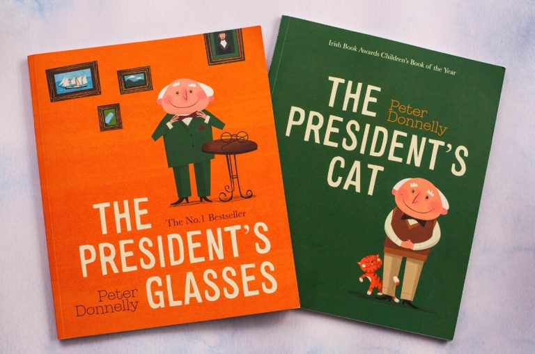 Two of the best Irish books for kids, The President's Cat and The President's Glasses by Peter Donnelly