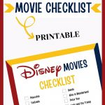 Disney Movie checklist pin for Pinterest