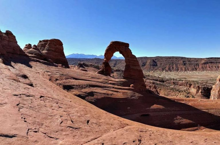 A picture of one of the arches in Arches National Park